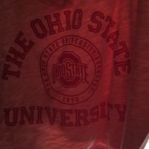 NWOT Pink The Ohio State University Red Crop Top